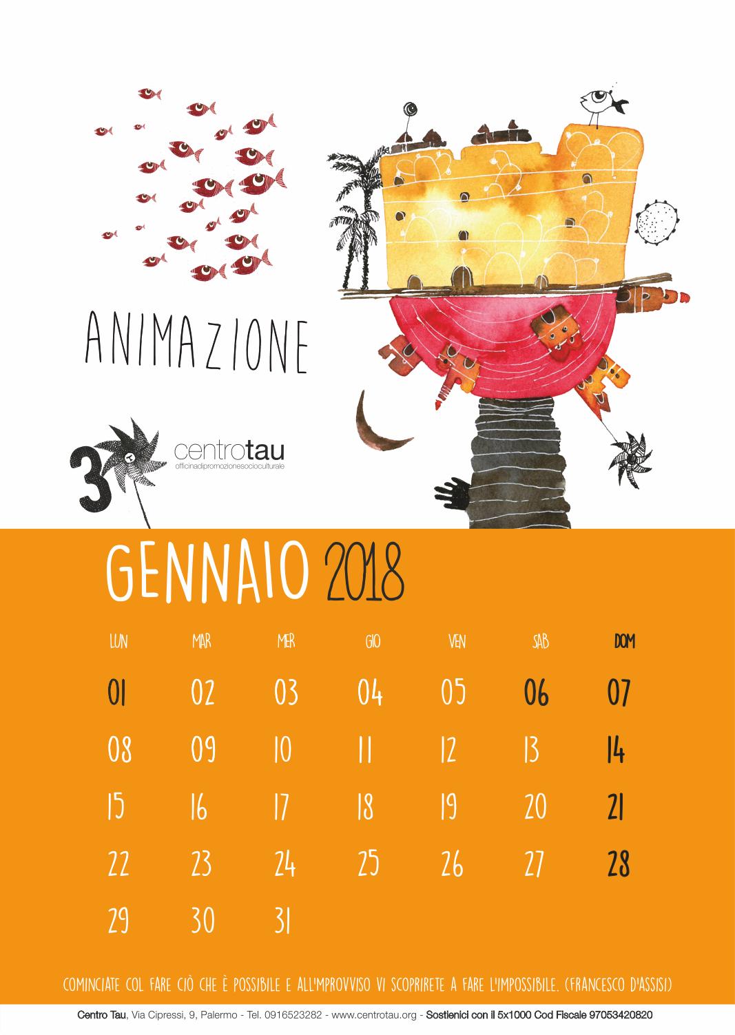 calendario-2018-gennaio