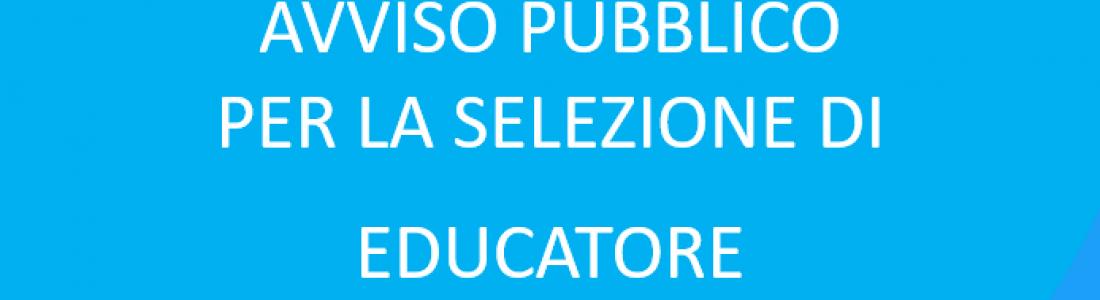 PUBBLICAZIONE ESITI AVVISO PUBBLICO PER LA SELEZIONE DI EDUCATORE PROFESSIONALE SOCIO PEDAGOGICO