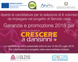 """Graduatoria per selezione dei candidati al servizio civile """" Garanzia e promozione 2018 per Crescere a Danisinni"""""""