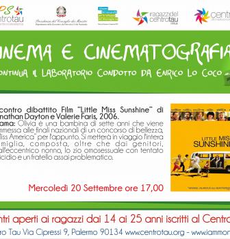 Continua il laboratorio di Cinema e Cinematografia condotto da Enrico B. Lo Coco al Centro TAU vi aspettiamo.